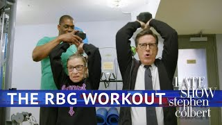Download Stephen Works Out With Ruth Bader Ginsburg Video