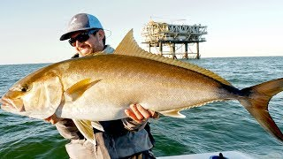 Download Fishing for Giant Amberjacks and Tuna on Oil Rigs Video