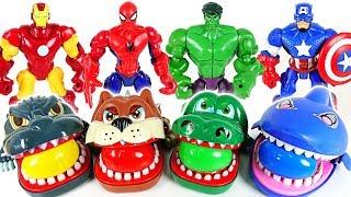 Download Marvel Avengers Hulk, Spider Man and terrible crocodile, dinosaur, shark surprise egg - DuDuPopTOY Video