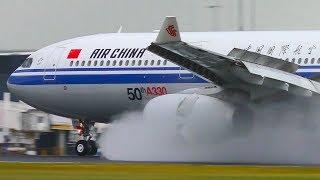 Download STORM | AMAZING Wet Runway Landings & Takeoffs ● Melbourne Airport Plane Spotting Video