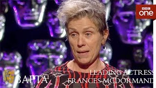 Download Frances McDormand wins Leading Actress BAFTA - The British Academy Film Awards: 2018 - BBC One Video