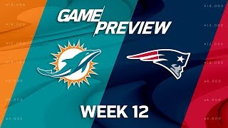 Download Miami Dolphins vs. New England Patriots | NFL Week 12 Game Preview Video