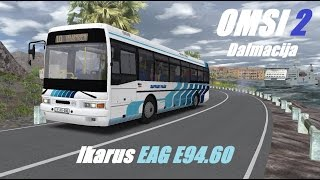 Download OMSI 2. Dalmacija Fictional, Line 10, Ikarus EAG E94.60 Video