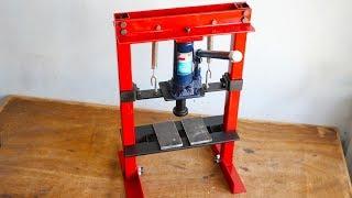 Download How To Make Hydraulic Press Machine || DIY Mini Hydraulic Press || Without Welding Video