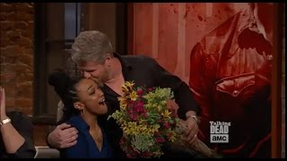 Download Talking Dead 7x16 - Michael/Abraham Surprises And Kisses Sonequa/Sasha Video