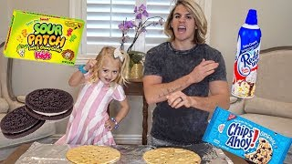Download ULTIMATE PIZZA CHALLENGE!!! (MAKING REAL CANDY AND OREO PIZZA!) Video