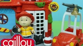 Download Caillou Fire Station Playset with Caillou the Firefighter Rescues a Kitty Cat from a Tree! Video