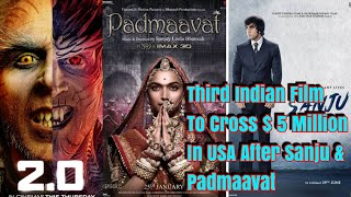 Download 2Point0 Becomes Third Indian Film To Cross 5 Million Dollars In USA Afte Padmaavat And Sanju Video
