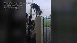 Download Typhoon Ompong: Bacarra, Ilocos Norte as of 6:06am Video