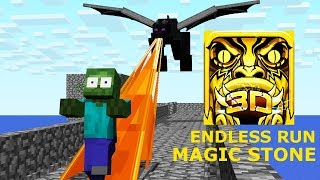 Download Monster School: ENDLESS RUN MAGIC STONE CHALLENGE - Minecraft Animation Video