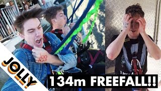 Download When someone who is genuinely afraid of heights goes BUNGEE JUMPING... Video