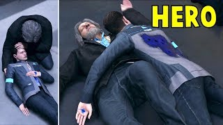Download Connor Saves Hank vs Connor Left for Death - Detroit Become Human HD PS4 Pro Video