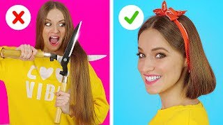 Download BRILLIANT HAIR HACKS AND TIPS || Funny Hair Situations And Problems by 123 GO! Video