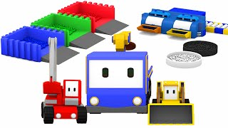 Download Mixing colors with Tiny Trucks: bulldozer, crane, excavator , Educational cartoon 🎨🚚 Video