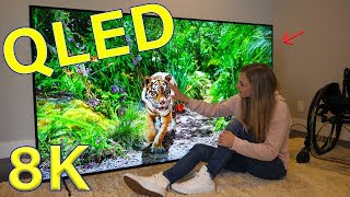 Download Is QLED better than OLED? - Unboxing a Massive QLED 8K TV! Video
