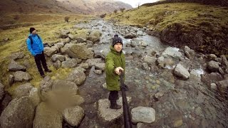 Download Hiking Scafell Pike highest mountain in England Video