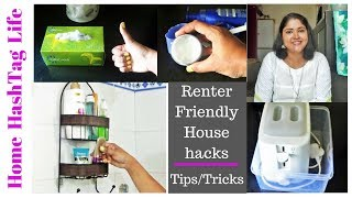 Download Tips/Tricks || 12 Household Tips/Tricks For Small Apartment| Renter Friendly Home Organization Hacks Video