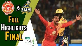 Download Full Highlights | Peshawar Zalmi Vs Islamabad United | Final | 25 March | HBL PSL 2018 Video