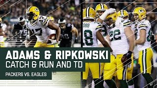 Download Davante Adams Great Catch & Run Sets Up Aaron Ripkowski TD | Eagles vs. Packers | NFL Video