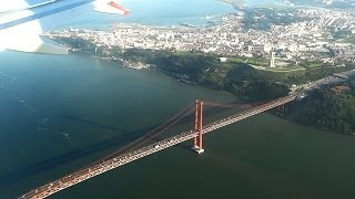 Download Landing in Lisbon Airport LIS Video