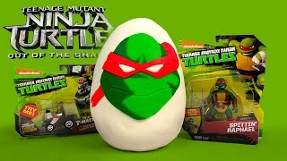 Download Teenage Mutant Ninja Turtles 2 Movie Toys Play-Doh Surprise Egg Out of the Shadows by KidCity Video