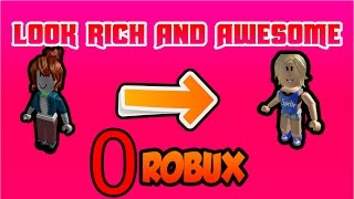 Download ROBLOX | HOW TO LOOK RICH/LIKE PRO PEOPLE WITH 0 ROBUX! [2018] [GIRLS VERSION] Video