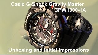 Download Casio G-Shock GPW1000-1A unboxing. Video