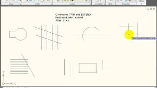 Download AutoCAD Tutorial - Using TRIM and EXTEND Video