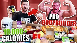 Download I Ate Like a Pro BODYBUILDER for A Day!! (10,000+ CALORIES CHALLENGE FT. PRO BODYBUILDER) Video