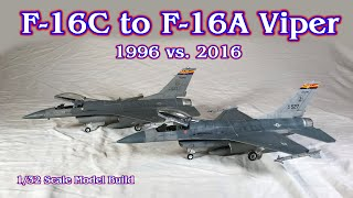 Download Building the Revell 1/32 scale F-16 Fighting Falcon Fighter Jet model 1996 vs. 2016 Video