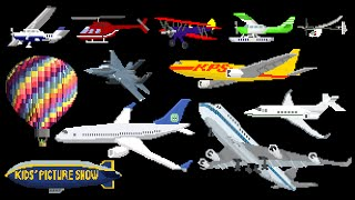 Download Aircraft - Airplanes / Aeroplanes & Air Vehicles - The Kids' Picture Show (Fun & Educational) Video