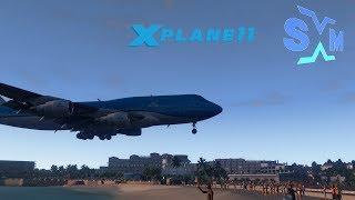 Download X-Plane 11 Plane Spotting: Princess Juliana Intl Airport (SXM/TNCM) on Maho Beach *NEW SCENERY* Video
