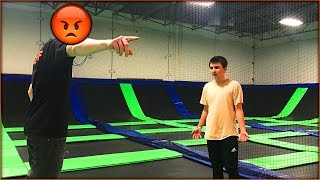 Download ALONE AT A TRAMPOLINE PARK & WE GOT BANNED... THE STAFF WAS REALLY MAD Video