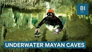Download Divers discover 215-mile-long cave in Mexico full of Mayan relics Video