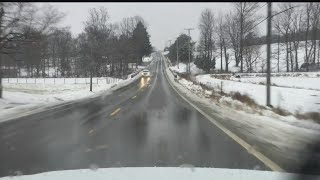 Download Snow turns to chilly rain Columbiana County, ODOT advises against travel Video