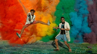 Download 25 Airbag Rainbow Explosion in 4K - The Slow Mo Guys Video