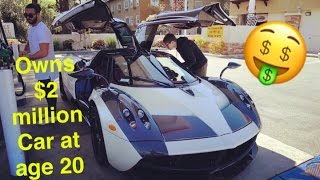 Download Meet Marc! The Youngest Pagani Owner In The World At 20 Yrs Old Video