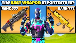 Download 10 BEST Weapons Ranked in Fortnite (HARD LIST) Chaos Video