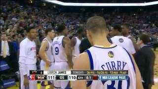 Download LeBron James' game-winning fadeaway 3 vs Golden State [12 Feb 2014] Video