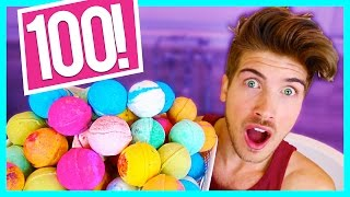 Download 100 BATH BOMBS CHALLENGE! Video