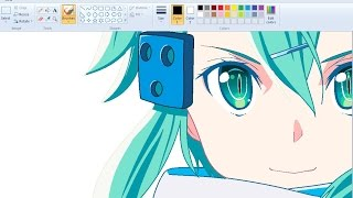Download Drawing Anime Girl on MS Paint - Sinon Speedpaint Video