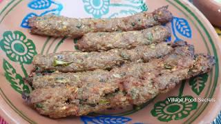 Download Homemade Seekh kabab in Tandoor Oven | Mutton Seekh Kebab | Village Food Secrets Video