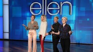 Download Scarlett Johansson, Brie Larson & Hannah Hart Walk Onto a Stage Video