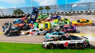 Download EVERYONE WRECKED! [Biggest Crash I've Ever Seen!]   Forza Motorsport 6   NASCAR Expansion Video