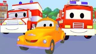 Download Пожарная машина, полицейская машина, трактор, скорая помощь и Эвакуатор Том | Мультфильм о машинках Video