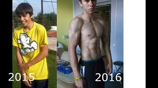 Download 1Year Incredible Body Transformation - (Calisthenics) 15 Years old! Video