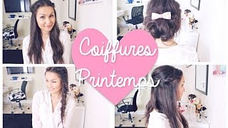 Download ✿ 4 Coiffures simples et rapides ! (Spring Edition) Video