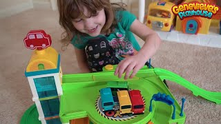 Download Cute Kid Genevieve Plays with Tayo the Little Bus Elevator! Video