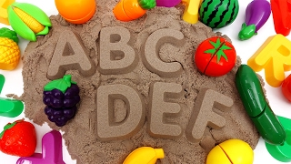 Download Learn Names of Fruits and Vegetables with Kinetic Sand~ Do You Know Them All? Video