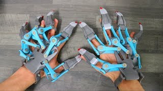 Download AWESOME 3D PRINTED EXOSKELETON HANDS!!! Video